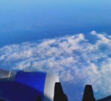 Airplane blue Sticker