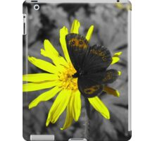 Butterfly on a yellow flower iPad Case/Skin