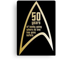 50 years of Star Trek Canvas Print