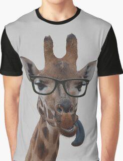 Geek Giraffe Graphic T-Shirt
