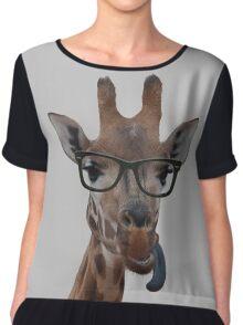 Geek Giraffe Chiffon Top