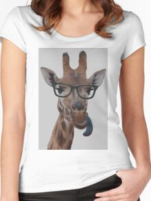 Geek Giraffe Women's Fitted Scoop T-Shirt