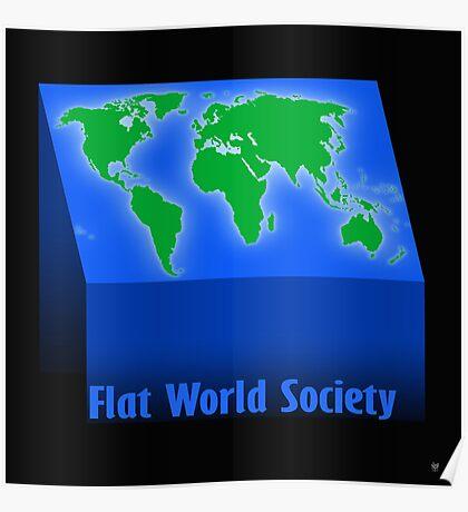 FLAT WORLD SOCIETY Poster