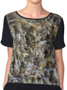Nature-inspired dried moss_1 Chiffon Top