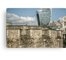 20 Fenchurch Behind the Tower Walls Canvas Print