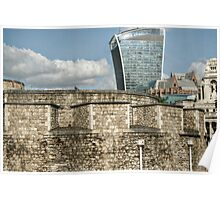 20 Fenchurch Behind the Tower Walls Poster