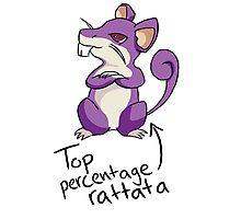 Top Percentage Rattata Photographic Print