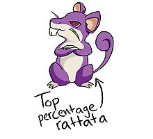 Top Percentage Rattata Photographic Print