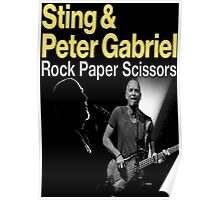 ROCK PAPER SCISSORS STING GABRIEL Poster