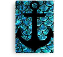 Mermaid anchor  Canvas Print