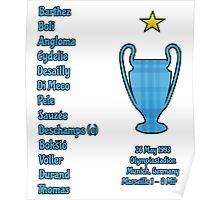 Olympique de Marseille 1993 Champions League Final Winners Poster