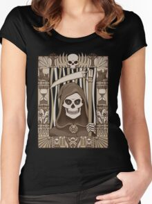 COWER BRIEF MORTALS Women's Fitted Scoop T-Shirt