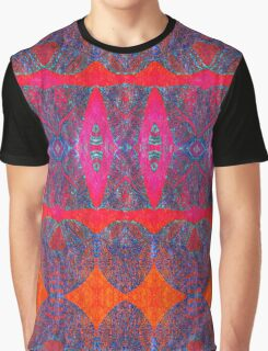 Cool Patterns on Hot Hues Graphic T-Shirt