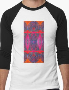 Cool Patterns on Hot Hues Men's Baseball ¾ T-Shirt