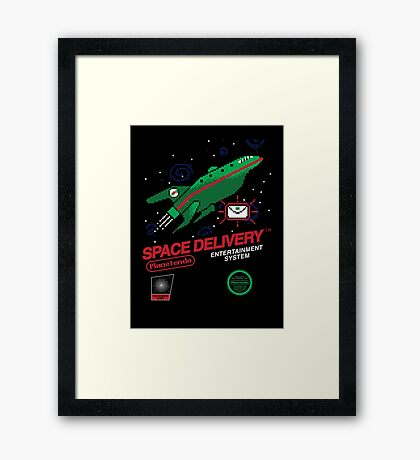 Space Delivery Framed Print