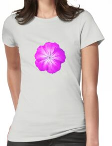Purple Power Flower Womens Fitted T-Shirt