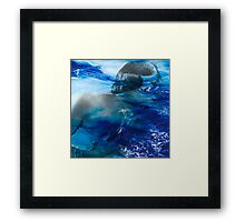 Girl lost in the the sea Framed Print