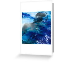 Girl lost in the the sea Greeting Card
