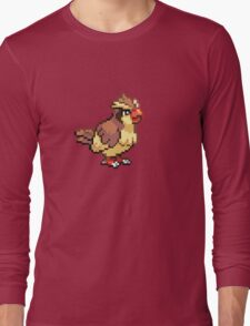 Old School Pokemon 8-Bit Pidgey Fun! Gotta Catch 'Em All.  Long Sleeve T-Shirt
