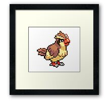 Old School Pokemon 8-Bit Pidgey Fun! Gotta Catch 'Em All.  Framed Print