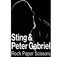 PETER GABRIEL STING PAPER SCISSORS Photographic Print