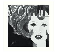 Vintage Vogue Black & White Art Print