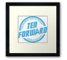 Ten Forward Framed Print