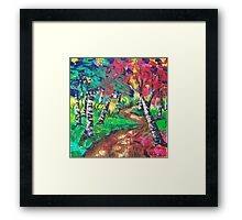 Whimsical Woods Abstract Framed Print