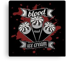 Blood & Ice Cream - Silver Variant Canvas Print