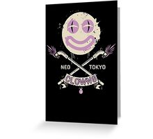 Neo Tokyo Clowns Greeting Card