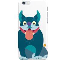 Small Blue French Bulldog Friend iPhone Case/Skin