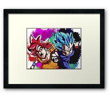 DBZ Goku and Vegeta Framed Print