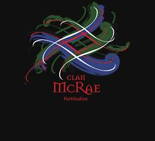 Clan McRae - Prefer your gift on Black/White, let us know at info@tangledtartan.com Unisex T-Shirt