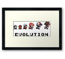 Pokemon evolution - Classic Framed Print