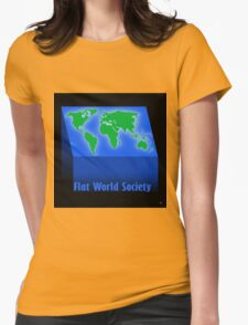 FLAT WORLD SOCIETY Womens Fitted T-Shirt