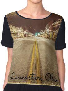 Downtown Lancaster, Ohio Chiffon Top
