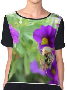 honey bee in the garden 01 Chiffon Top