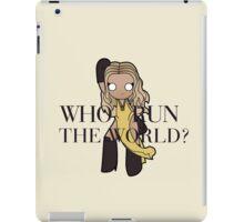 run the world iPad Case/Skin