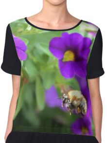 honey bee in the garden 02 Chiffon Top