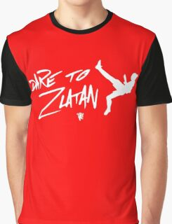 Dare To Zlatan in Manchester black and white Graphic T-Shirt