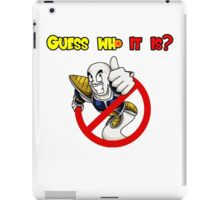 Guess who it is? iPad Case/Skin