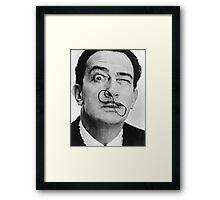 avida dollar = Salvador Dali portrait - 1 figure face Framed Print