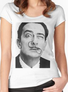 avida dollar = Salvador Dali portrait - 1 figure face Women's Fitted Scoop T-Shirt