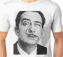 avida dollar = Salvador Dali portrait - 1 figure face Unisex T-Shirt