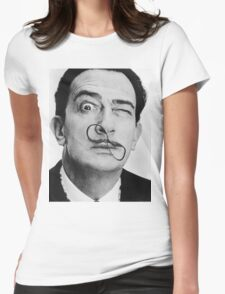 avida dollar = Salvador Dali portrait - 1 figure face Womens Fitted T-Shirt