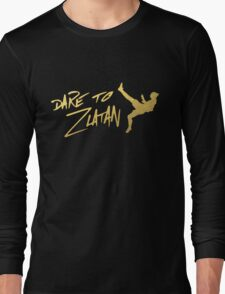 Dare To Zlatan in Manchester Gold Long Sleeve T-Shirt