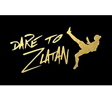 Dare To Zlatan in Manchester Gold Photographic Print
