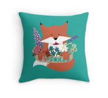 I Love Foxes Throw Pillow
