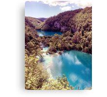 Vintage Plitvice Lakes Canvas Print