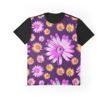Floral in Purple Graphic T-Shirt